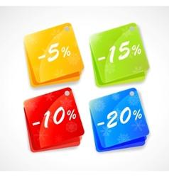 christmas price tags vector image vector image