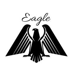 Eagle black heraldic gothic icon vector image vector image