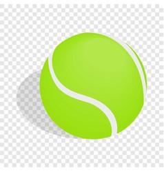 green tennis ball isometric icon vector image