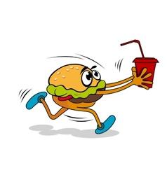 Hamburger with juice vector image