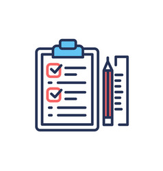 Project briefing - modern line design icon vector