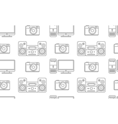 Seamless pattern of household electronics vector image vector image