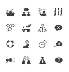 business icon set personality traits vector image