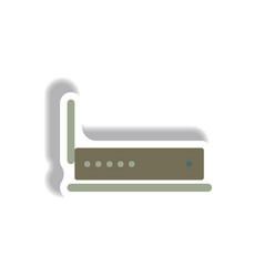 In paper sticker style wifi vector