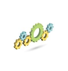 isometric gear mechanism Settings icon vector image