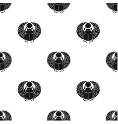 scarab icon in black style isolated on white vector image