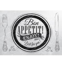 Bon Appetit coal vector image