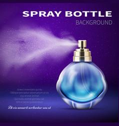 deodorant bottle with translucent water spray mist vector image