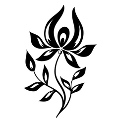 isolated black and white flower vector image vector image