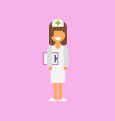 nurse from the hospital vector image