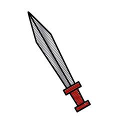 sword antique weapon vector image