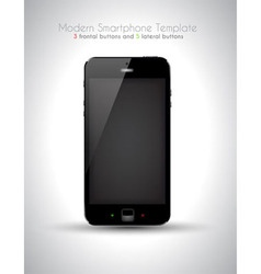 Ultra Realistic modern touch smartphone template vector image vector image