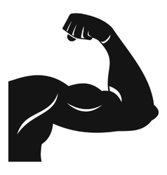 Biceps icon simple style vector image