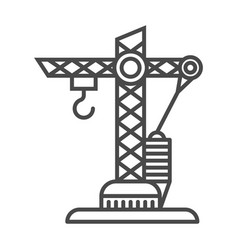 building crane linear icon vector image
