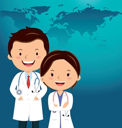 Cartoon doctor or Medical career vector image vector image