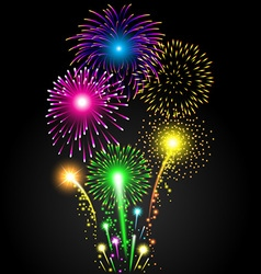 Colorful firework set for Christmas and Happy New vector image vector image