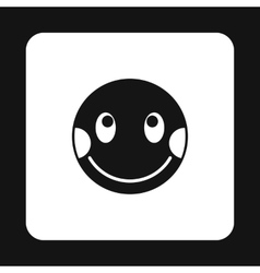 Confused emoticon icon simple style vector image