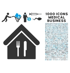 Restaurant Icon with 1000 Medical Business vector image vector image