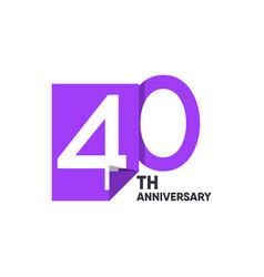 40 th anniversary celebration your company vector