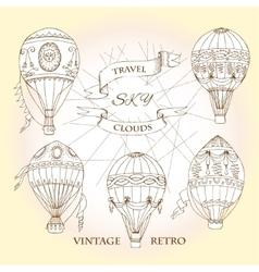 Air Balloons Backgr-14 vector image