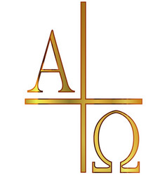 Alpha omega golden image vector
