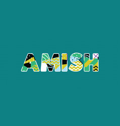 Amish concept word art vector