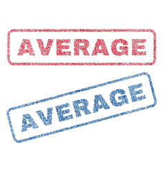 Average textile stamps vector