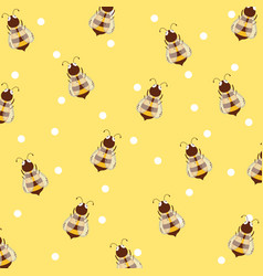 Bees and honey background vector