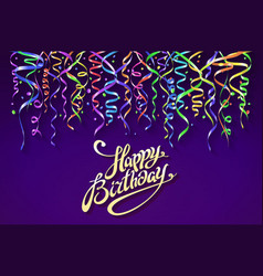 birthday greeting card with place for your text vector image