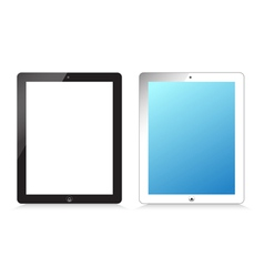 Black and white modern tablet on white background vector