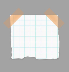 Blank piece paper attached with adhesive tape vector