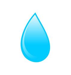blue water drop icon symbol logo design vector image