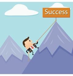 Business Mountain Success vector image