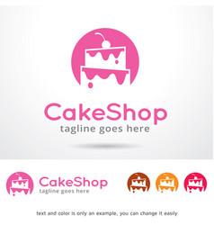 Cake shop logo template vector