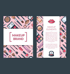 Card flyer brochure template for beauty vector