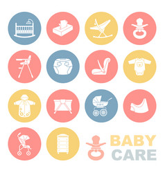 Care of the childthe icons set vector