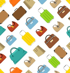 Color travel bags seamless pattern vector image