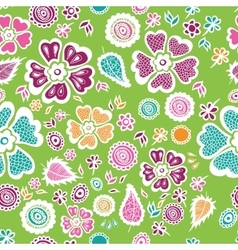 Colorful floral seamless pattern background vector image