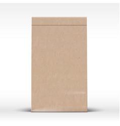 Craft paper bag template realistic carton texture vector