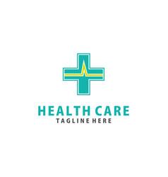 Cross plus medical logo icon design template vector