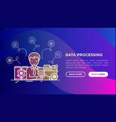 Data processing smm manager collects data vector