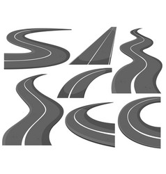 Different design of roads vector