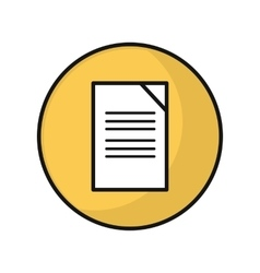 Document Icon in Flat Style Design vector image