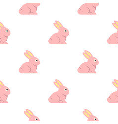 Easter bunny pattern seamless vector