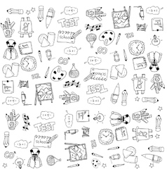 Education tools doodles on white backgrounds vector