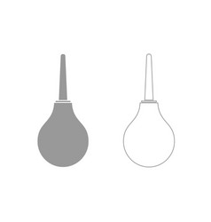 enema grey set icon vector image