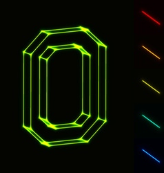 EPS10 glowing wireframe letter O - easy to change vector image