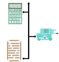 Evolution calculators banner vector