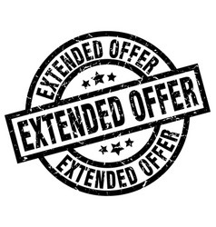 Extended offer round grunge black stamp vector