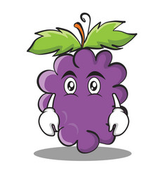 flat face grape character cartoon collection vector image vector image